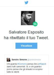 Il ritweet di Salvatore Esposito – Genny Savastano